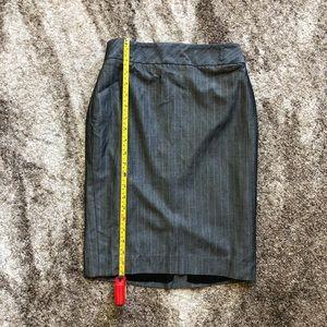 Grey Pinstripe Pencil Skirt